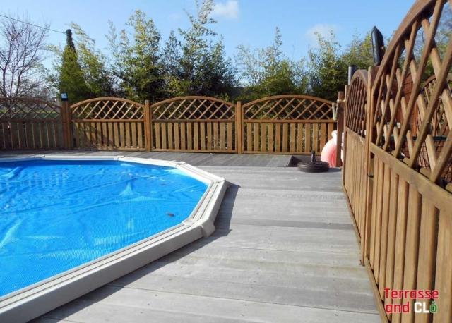 Détail palissade piscine Saint Malo