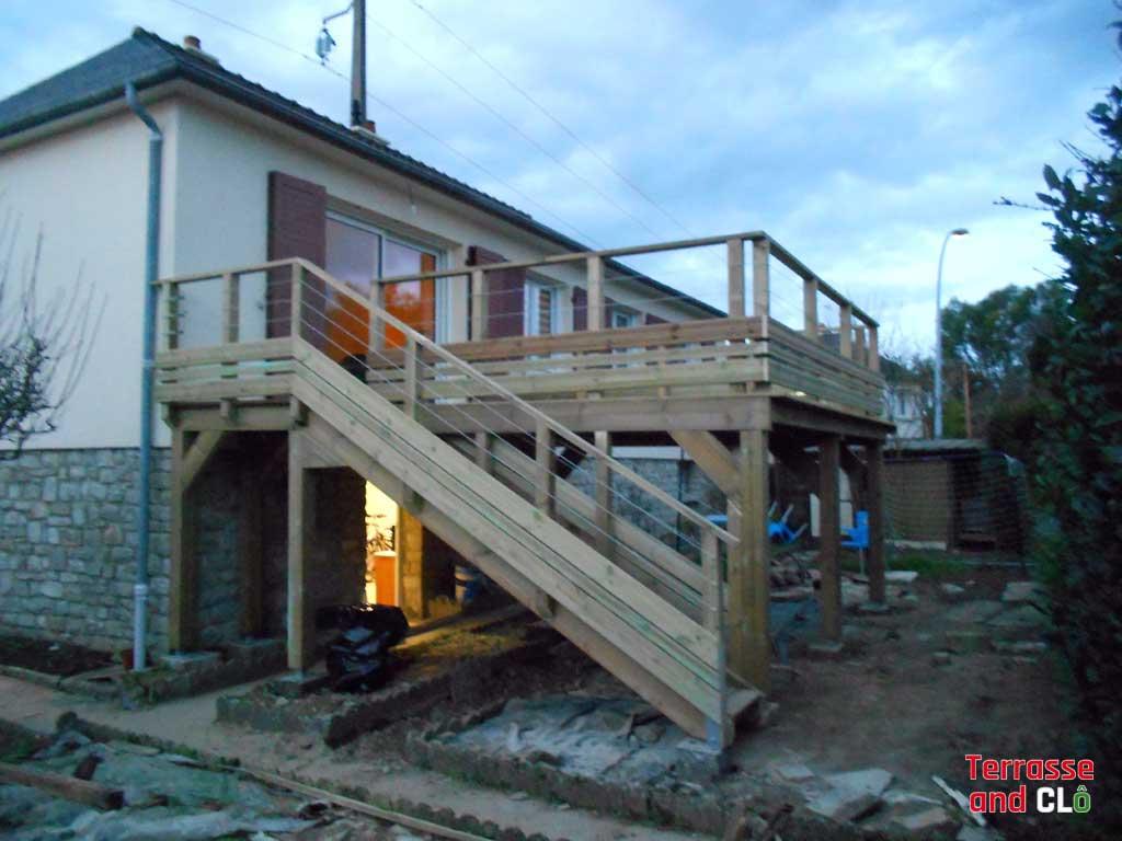 terrasse structure bois